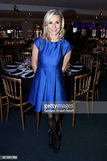 Journalist Laurence Ferrari dressed in Longchamp attends the Annual Charity Dinner hosted by the AEM Association Children of the World for Rwanda...