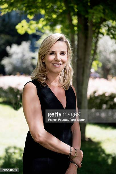 Journalist Laurence Ferrari is photographed for Paris Match on September 3 2013 in Paris France
