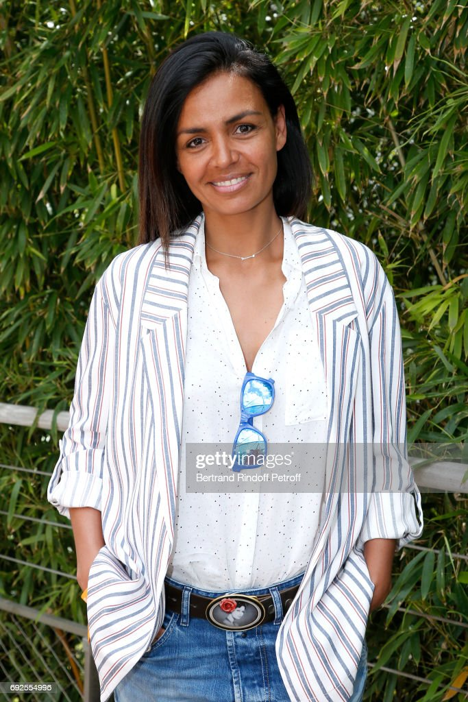 Journalist Laurence Roustandjee attends the 2017 French Tennis Open - Day Height at Roland Garros on June 4, 2017 in Paris, France.