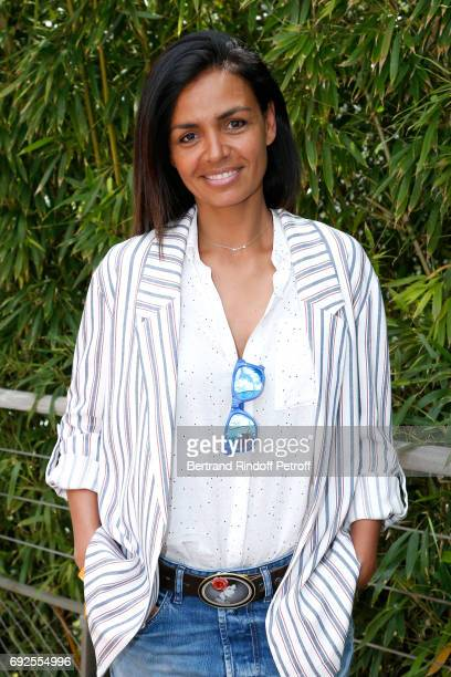 Journalist Laurence Roustandjee attends the 2017 French Tennis Open Day Height at Roland Garros on June 4 2017 in Paris France