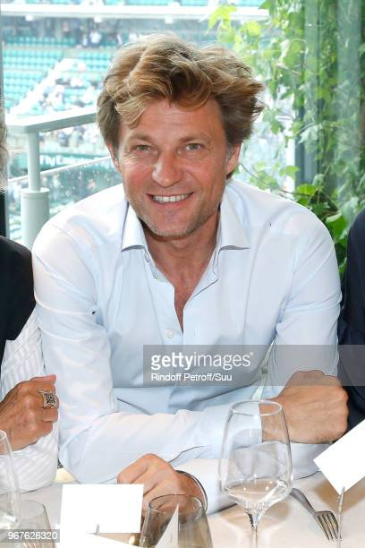 Journalist Laurent Delahousse attends the 'France Television' Lunch during the 2018 French Open Day Ten at Roland Garros on June 5 2018 in Paris...