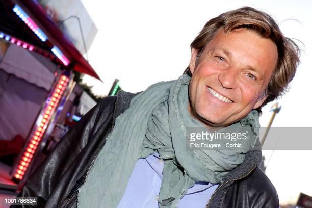 Journalist Laurent Delahousse poses during a portrait session in Paris France on