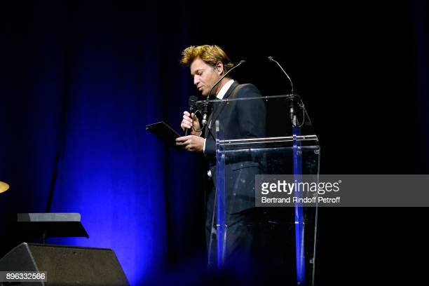 Journalist Laurent Delahousse presents the Gala evening of the PasteurWeizmann Council in Tribute to Simone Veil at Salle Pleyel on December 20 2017...