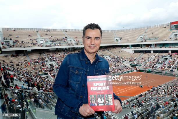 """Journalist Laurent Luyat presents his book """"The best moments of French sport - Les meilleurs moments du sport francais"""" and inaugurates the France..."""