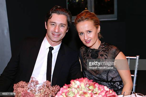Journalist Laurent Solly and Guest attend 'Cartier Le Style et L'Histoire' Exhibition Private Opening at Le Grand Palais on December 2 2013 in Paris...