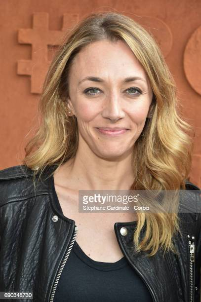 Journalist Laurie Delhostal attends the 2017 French Tennis Open Day Three at Roland Garros on May 30 2017 in Paris France