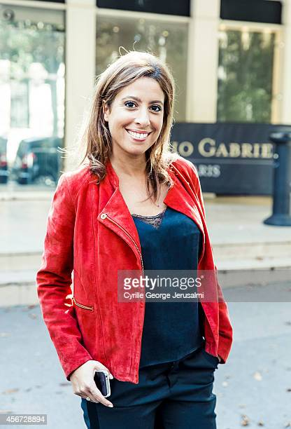 Journalist Lea Salame is photographed for Gala on August 26 2014 in Paris France