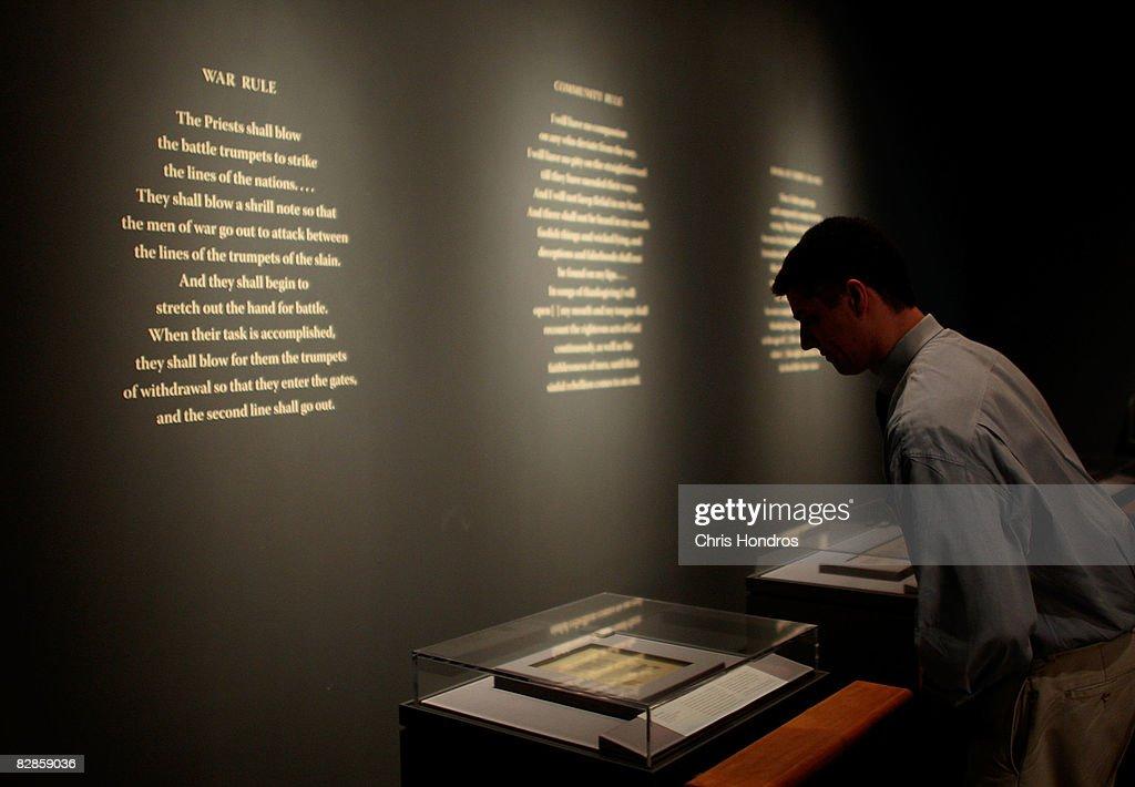 NYC's Jewish Museum To Display The Dead Sea Scrolls : News Photo