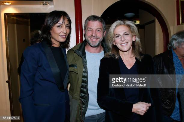 Journalist Leila Kaddour CEO of Courreges Jacques Bungert and Anne Fulda attend 'Depardieu Chante Barbara' at Le Cirque d'Hiver on November 6 2017 in...