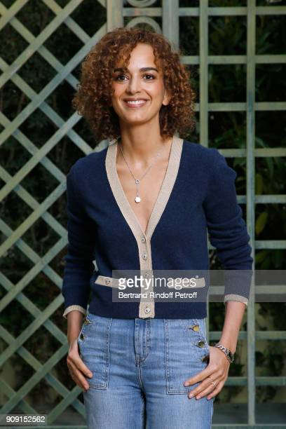Journalist Leila Slimani attends the Chanel Haute Couture Spring Summer 2018 show as part of Paris Fashion Week on January 23 2018 in Paris France