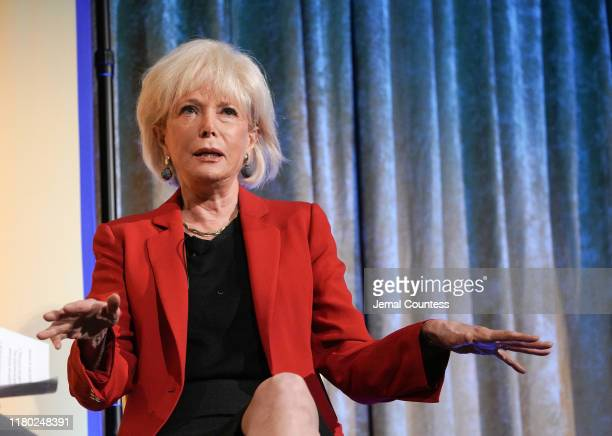 Journalist Lesley Stahl speaks onstage during an interview conducted by TYWLS Student Maham Rahman at the 13th Annual Power Breakfast at Cipriani...