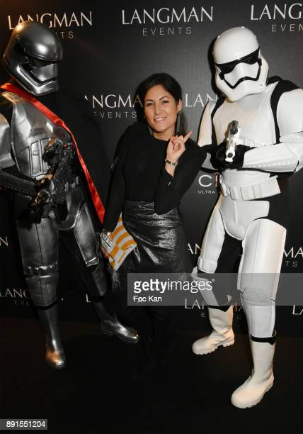 Journalist Leslie Benaroch from Public attends the Star Wars Party at Le Saint Fiacre on December 12 2017 in Paris France