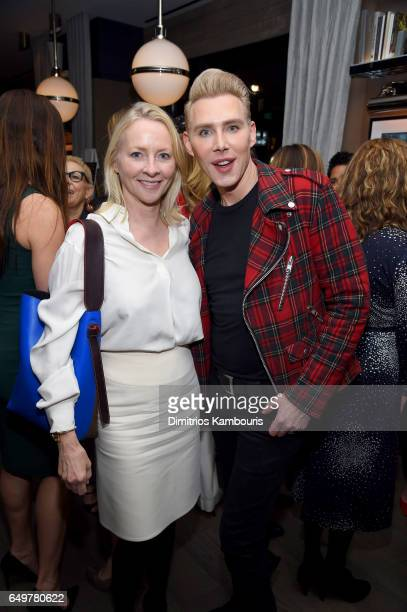 Journalist Linda Wells and Makeup Artist Kristofer Buckle attends the Two Turns From Zero Book Launch Event at The Regency Bar and Grill on March 8...