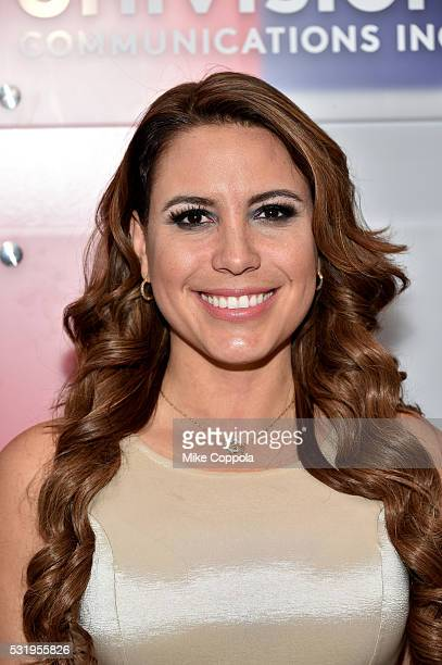 Journalist Lindsay Casinelli attends Univision's 2016 Upfront Red Carpet at Gotham Hall on May 17 2016 in New York City