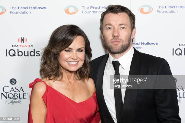 Journalist Lisa Wilkinson and Joel Edgerton attend the Joel Edgerton Presents The Inaugural Los Angeles Gala Dinner In Support Of The Fred Hollows...