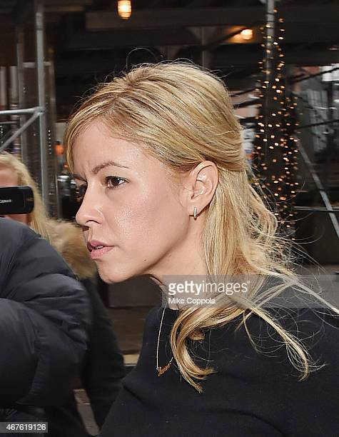 Journalist Liza Ghorbani mother of singer Liam Gallagher's daughter Gemma arrives at New York State Supreme Court on March 26 2015 in New York City