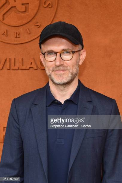 Journalist Loic Prigent attends the Men Final of the 2018 French Open Day Fithteen at Roland Garros on June 10 2018 in Paris France