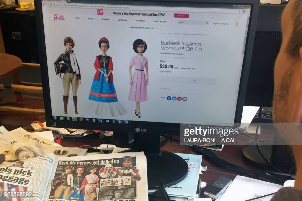 A journalist looks at the new series Barbie Inspiring Women featuring Amelia Earhart Frida Kahlo and Katherine Johnson that honors three historic...