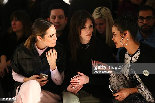 Journalist Louise Roe Models Coco Rocha Selita Ebanks attend the Marissa Webb Fall 2016 fashion show during New York Fashion Week The Shows at The...
