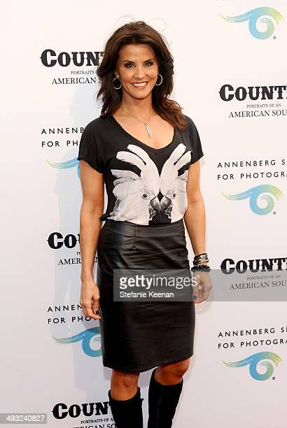 Journalist Lu Parker attends the Annenberg Space for Photography Opening Celebration for Country Portraits of an American Sound at the Annenberg...