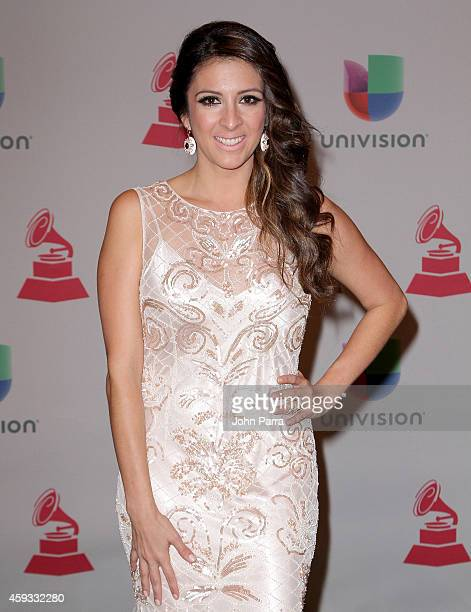 Journalist Maity Interiano attends the 15th annual Latin GRAMMY Awards at the MGM Grand Garden Arena on November 20 2014 in Las Vegas Nevada