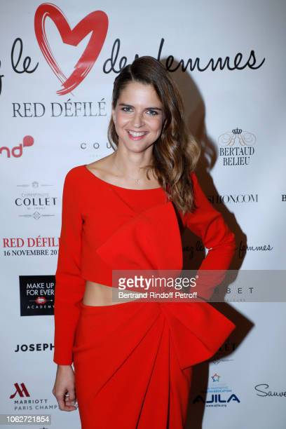 Journalist Margaux de Frouville dressed by Paule Ka attends the Sauvez le Coeur des Femmes Red Defile Show at Hotel Marriot on November 16 2018 in...