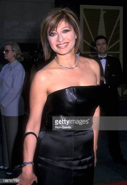 Journalist Maria Bartiromo attends the taping of NBC TV 25th Anniversary Special on May 5 2002 at Rockefeller Plaza in New York City