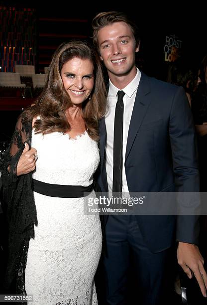 Journalist Maria Shriver and actor Patrick Schwarzenegger attend The Comedy Central Roast of Rob Lowe at Sony Studios on August 27 2016 in Los...