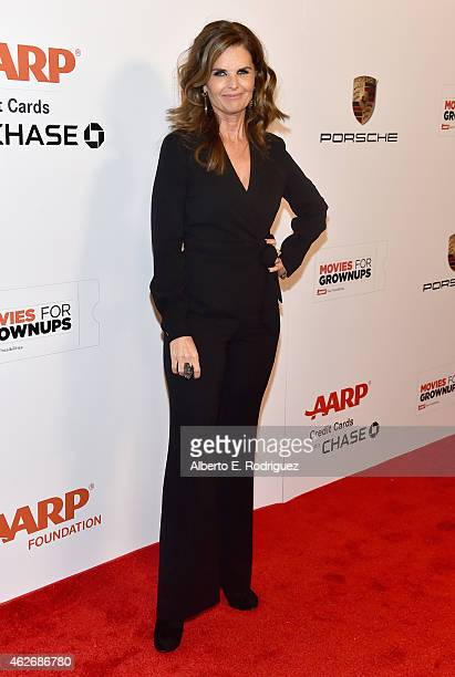 Journalist Maria Shriver arrives to AARP The Magazine's 14th Annual Movies For Grownups Awards Gala at the Beverly Wilshire Four Seasons Hotel on...