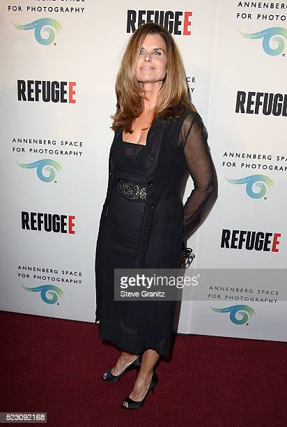 Journalist Maria Shriver attends the opening of REFUGEE Exhibit at Annenberg Space For Photography on April 21, 2016 in Century City, California.