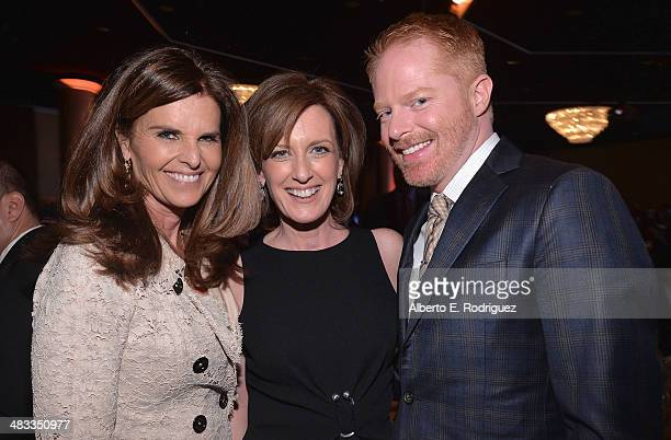 Journalist Maria Shriver President of the DisneyABC Television Group Anne Sweeney and actor Jesse Tyler Ferguson attend The Alliance For Children's...