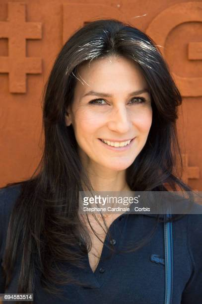 Journalist Marie Drucker attends the French Tennis Open Day Fourteen at Roland Garros on June 10 2017 in Paris France