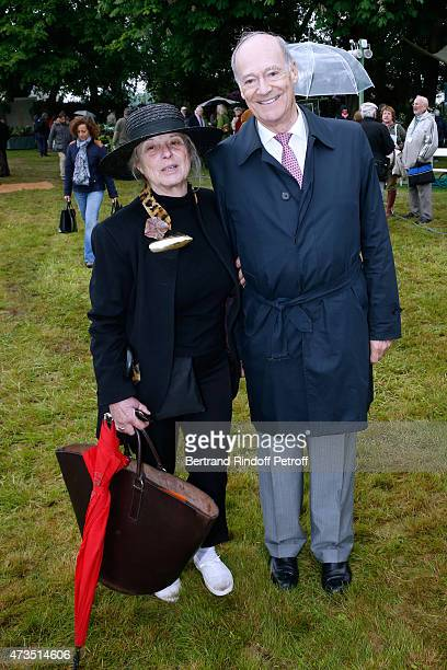 Journalist MariePaule Pelle and Prince Amyn Aga Khan attend the Days of Plants 2015 From Courson To Chantilly Held at Chateau de Chantilly on May 15...