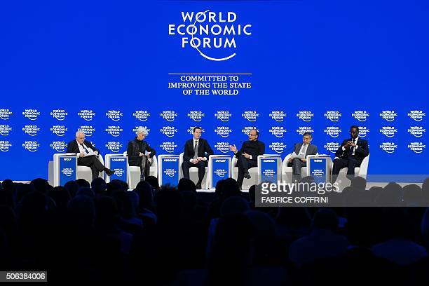 Journalist Martin Wolf International Monetary Fund Managing Director Christine Lagarde British Finance Minister George Osborne Indian Finance...