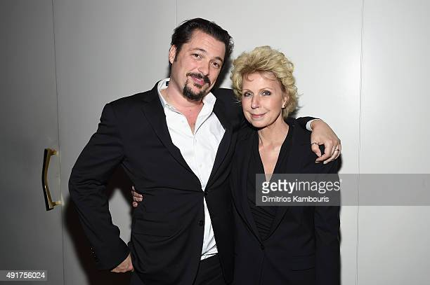 """Journalist Mary Mapes and director James Vanderbilt attend the Armani and Cinema Society Screening of Sony Pictures Classics' """"Truth"""" after party at..."""