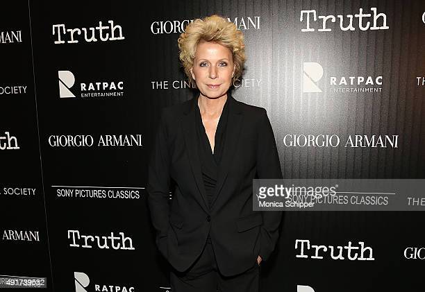 """Journalist Mary Mapes attends the screening of Sony Pictures Classics' """"Truth"""" hosted by Giorgio Armani and The Cinema Society at Museum of Modern..."""