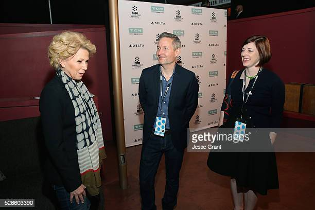Journalist Mary Mapes manager of Brand Activation for TCM Mark Wynns and Managing Director of TCM Classic Film Festival Genevieve McGillicuddy attend...