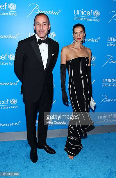 Journalist Matt Lauer and Annette Lauer attends the 2009 UNICEF Snowflake Ball at Cipriani 42nd Street on December 2 2009 in New York City