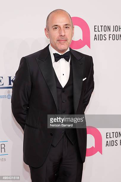 Journalist Matt Lauer attends Elton John AIDS Foundation's 14th Annual An Enduring Vision Benefit at Cipriani Wall Street on November 2 2015 in New...