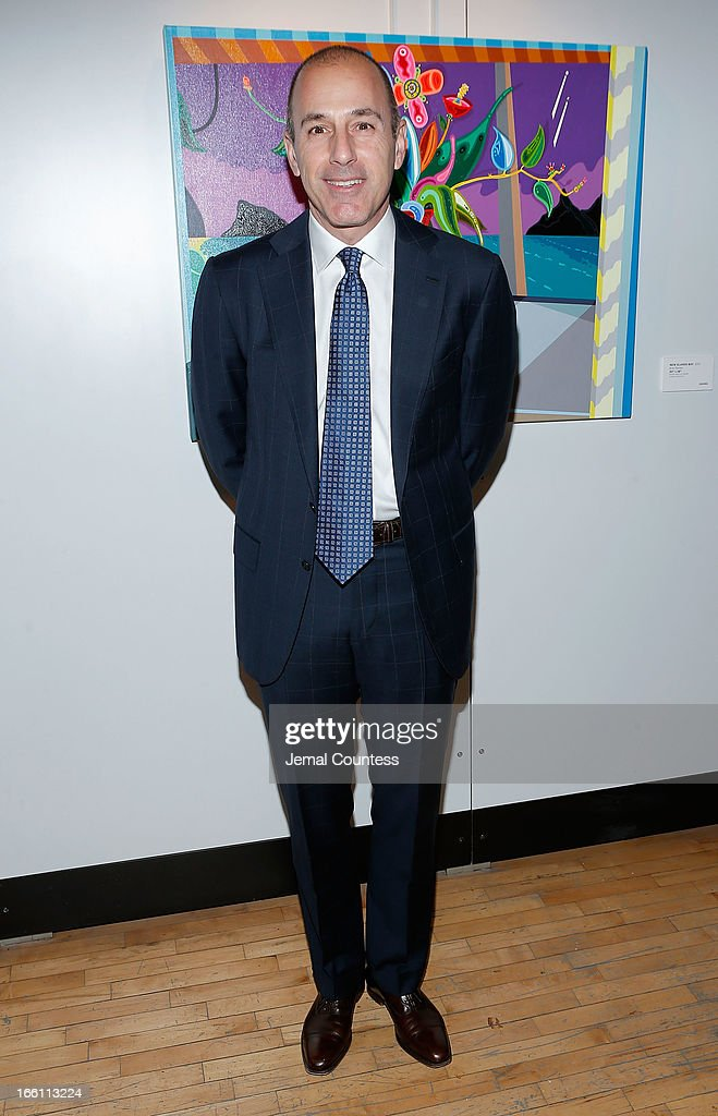 Journalist Matt Lauer attends the 2013 Tribeca Ball at New York Academy of Art on April 8, 2013 in New York City.