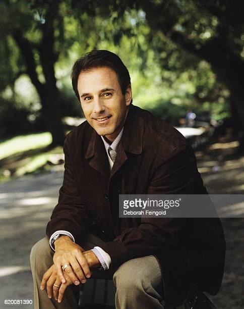 TV journalist Matt Lauer August 1999 in Central Park New York City New York