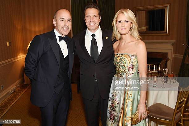 Journalist Matt Lauer New York Govenor Andrew Cuomo and chef Sandra Lee attend Elton John AIDS Foundation's 14th Annual An Enduring Vision Benefit at...
