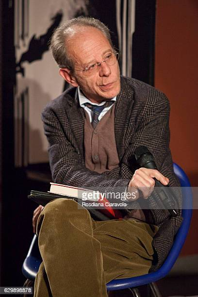 Journalist Maurizio Bono during the presenation of novel 'Il Turista' by Massimo Carlotto at the Noir In Festival on December 14 2016 in Milan Italy