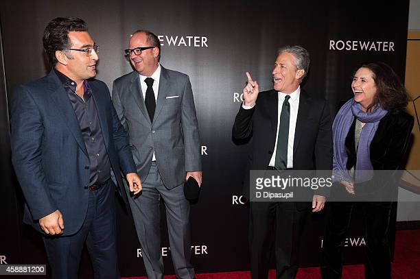 Journalist Maziar Bahari Open Road Films executive VP of production and acquisitions Peter Lawson director/writer/producer Jon Stewart and producer...