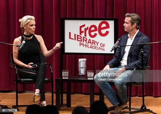 Journalist Megyn Kelly and novelist Douglas Brunt discuss Douglas Brunt's new novel 'Trophy Son' during Douglas Brunt In Conversation with Megyn...