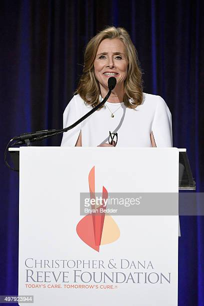 """Journalist Meredith Vieira speaks onstage during The Christopher & Dana Reeve Foundation 25th Anniversary """"A Magical Evening"""" Gala on November 19,..."""