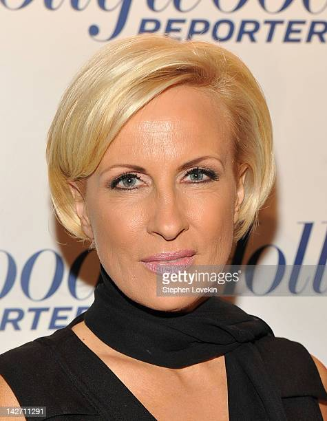 Journalist Mika Brzezinski attends the Hollywood Reporter celebration of 'The 35 Most Powerful People in Media' at the Four Season Grill Room on...