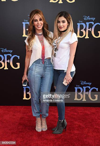 Journalist Myrka Dellanos and Alexa Dellanos arrive at the premiere of Disney's 'The BFG' at the El Capitan Theatre on June 21 2016 in Hollywood...