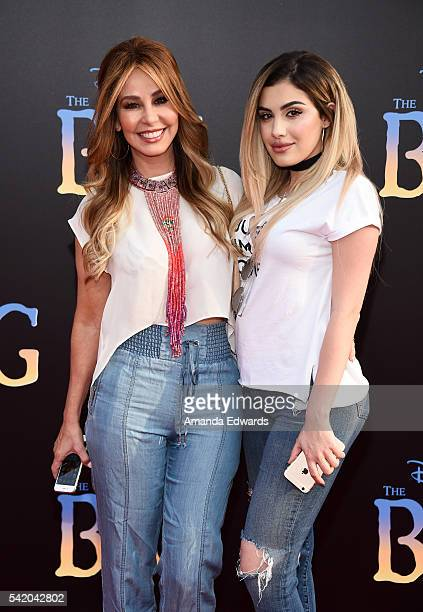 Journalist Myrka Dellanos and Alexa Dellanos arrive at the premiere of Disney's The BFG at the El Capitan Theatre on June 21 2016 in Hollywood...