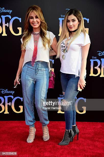 Journalist Myrka Dellanos and Alexa Dellanos attend Disney's 'The BFG' premiere at the El Capitan Theatre on June 21 2016 in Hollywood California